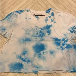Prince Peter White & Blue Cropped Ripped T-Shirt